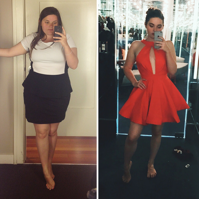 Dressing Rooms Are Much More Fun When You Are 60 Lbs Lighter. From Size L (185 Lbs) To Size S/XS (125 Lbs)