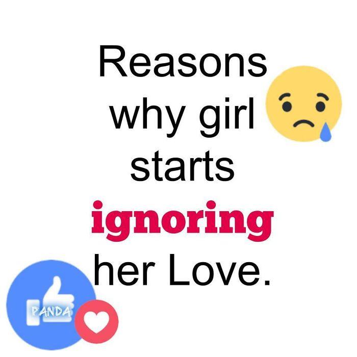 8 Reasons Why Girl Start Ignoring