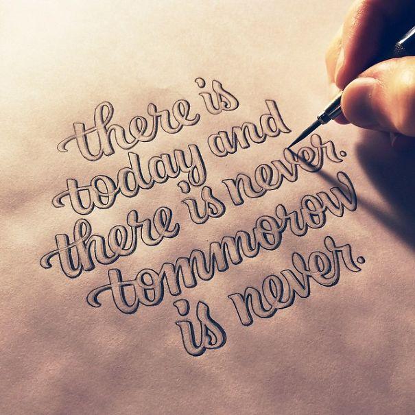 Inspirational Quotes Written In Beautiful Calligraphy Bored Panda