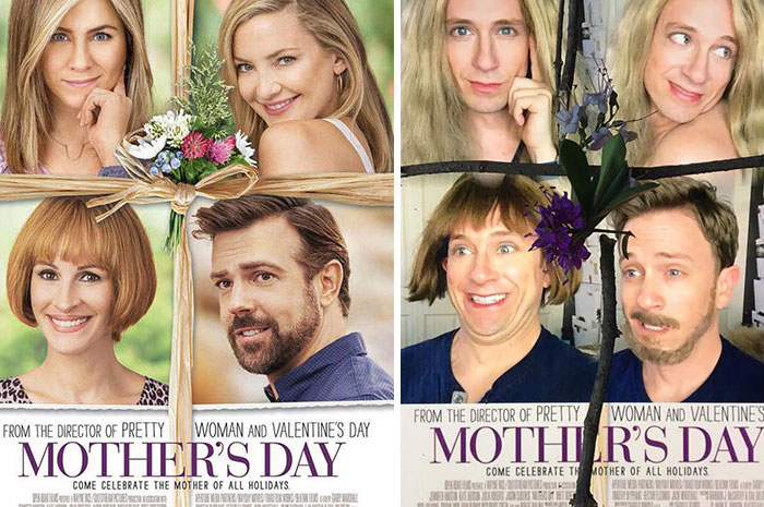 Tom Lenk As Jennifer Anniston, Julia Roberts, Kate Hudson And Jason Sudeikis On Moter's Day Movie Poster