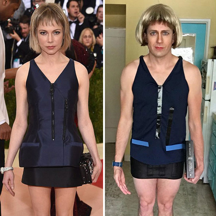 Tom Lenk As Michelle Williams At Met Gala
