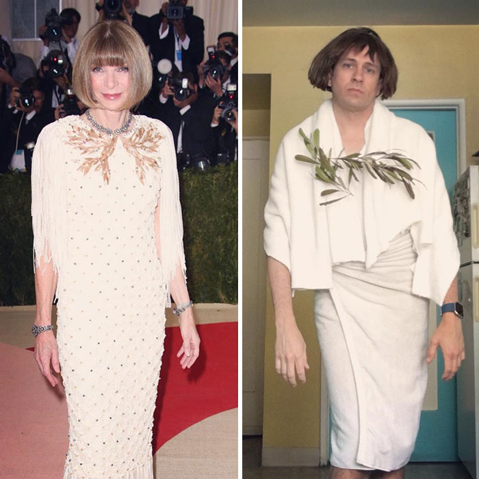 Tom Lenk As Anna Wintour At Met Gala
