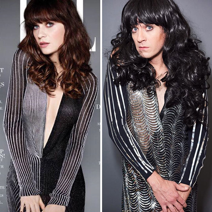 Tom Lenk As Zooey Deschanel