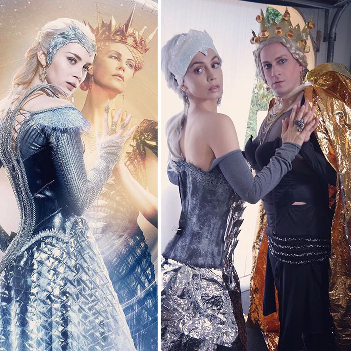 Tom Lenk And Eliza Dushku As Charlize Theron And Emily Blunt On The Huntsman: Winters War