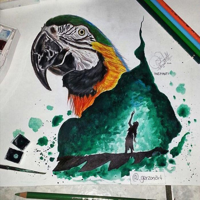 This Belizean Artist Creates Mystical Double Exposure Artwork