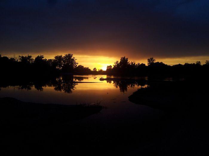 Sunset Over The River, Banja Luka, Bosnia And Herzegovina