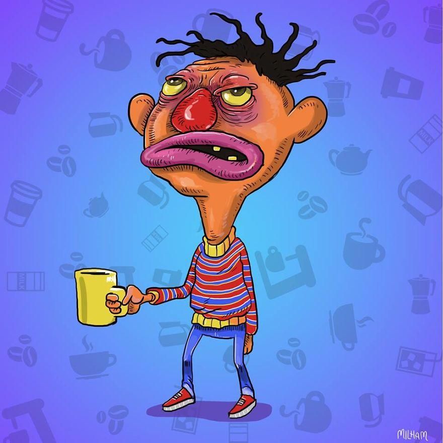 Ernie Before Coffee
