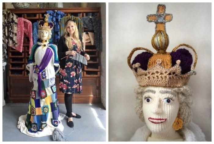 She Knit A Life Size Queen Elizabeth