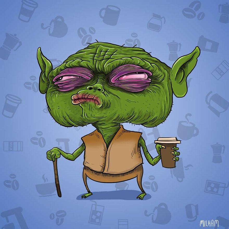 Yoda Before Coffee