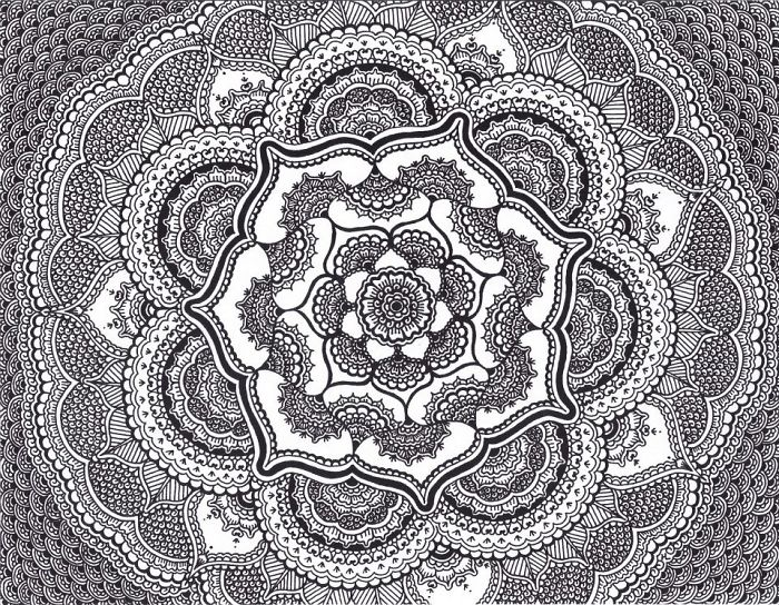 I Draw Intricate Black And White Designs