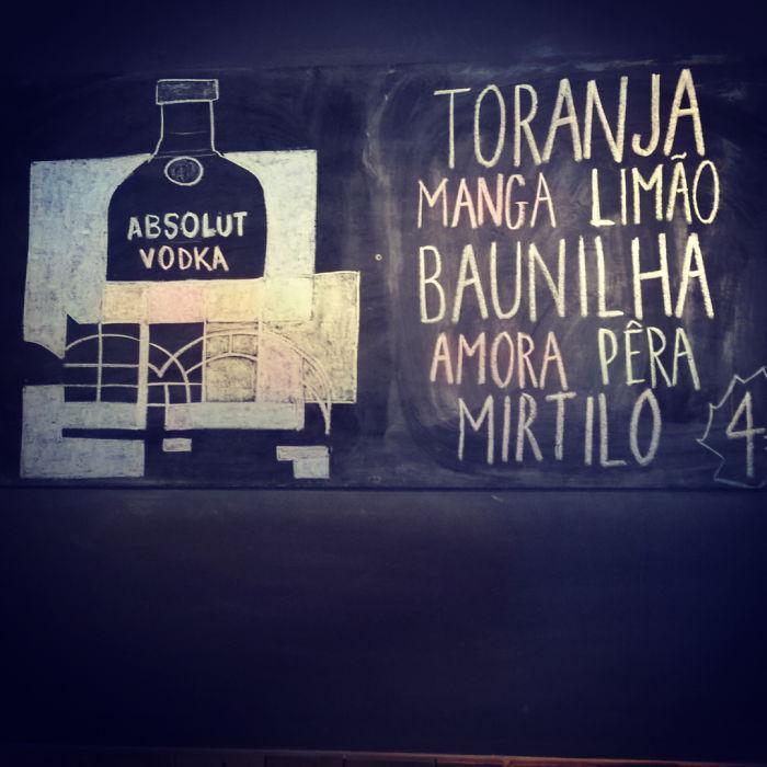 Chalkboard @ Lumberjack Bar