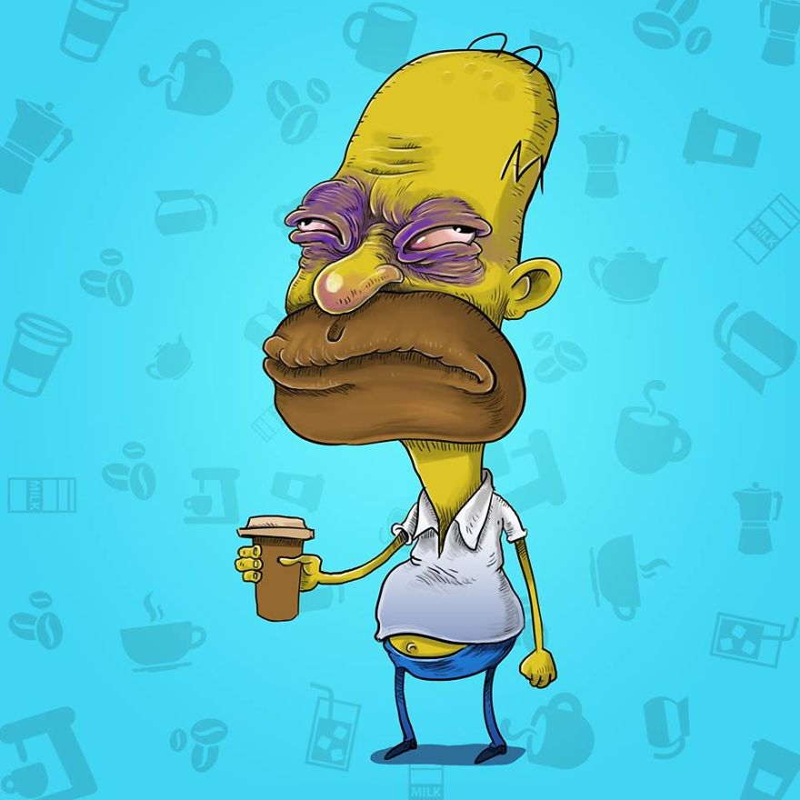 Homer Before Coffee