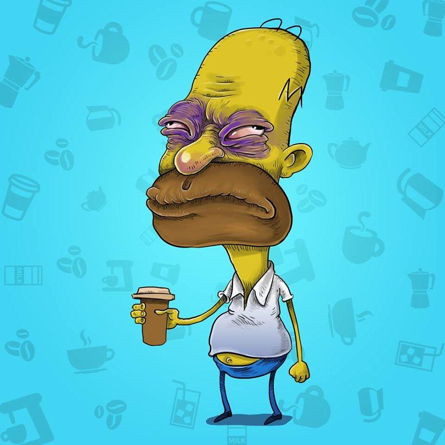 Homer Before Coffee