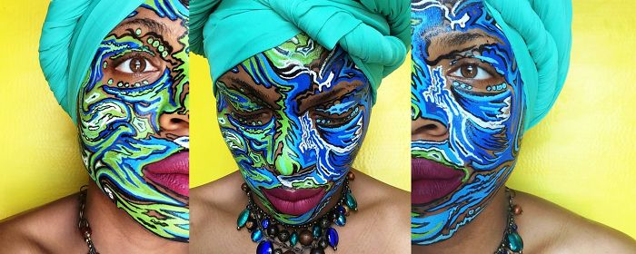 Timelapse Of Face Art With Posca Markers