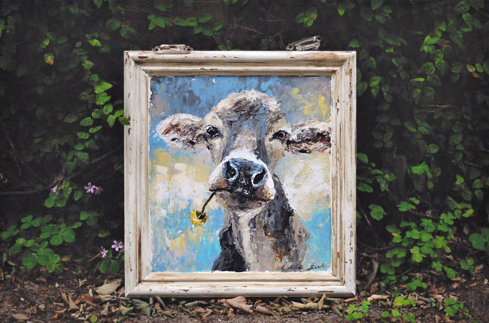 I Love Painting Cows, So You Can Call Me Cow Lady