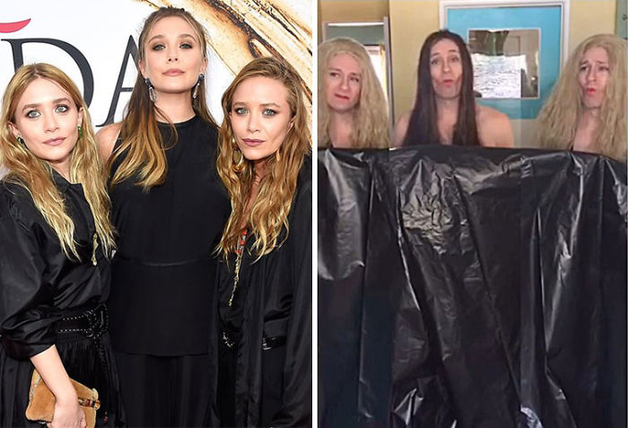 Tom Lenk As Olsen Sisters At Cfda