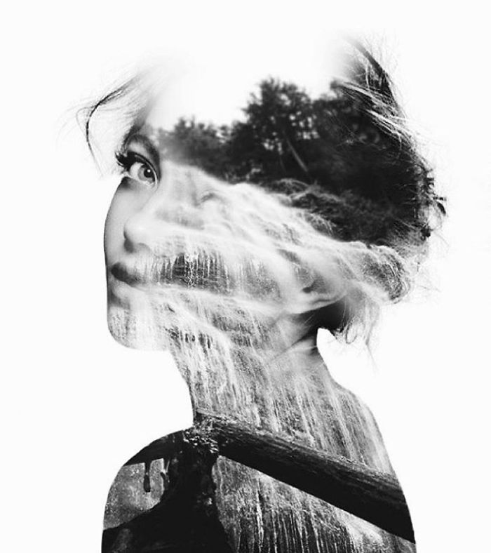 Double Exposure Portraits Where I Merge Two Worlds Into