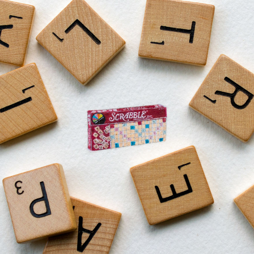 Scrabble. A Commissioned Piece - A Daughter's Favorite Game That She Used To Play With Her Mom