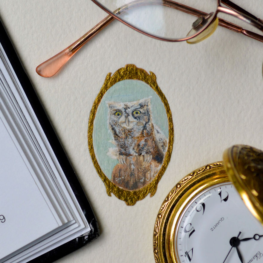 Wise Owl. A Commissioned Piece - In Commemoration Of A Little Owl That Attended The Bride's Wedding