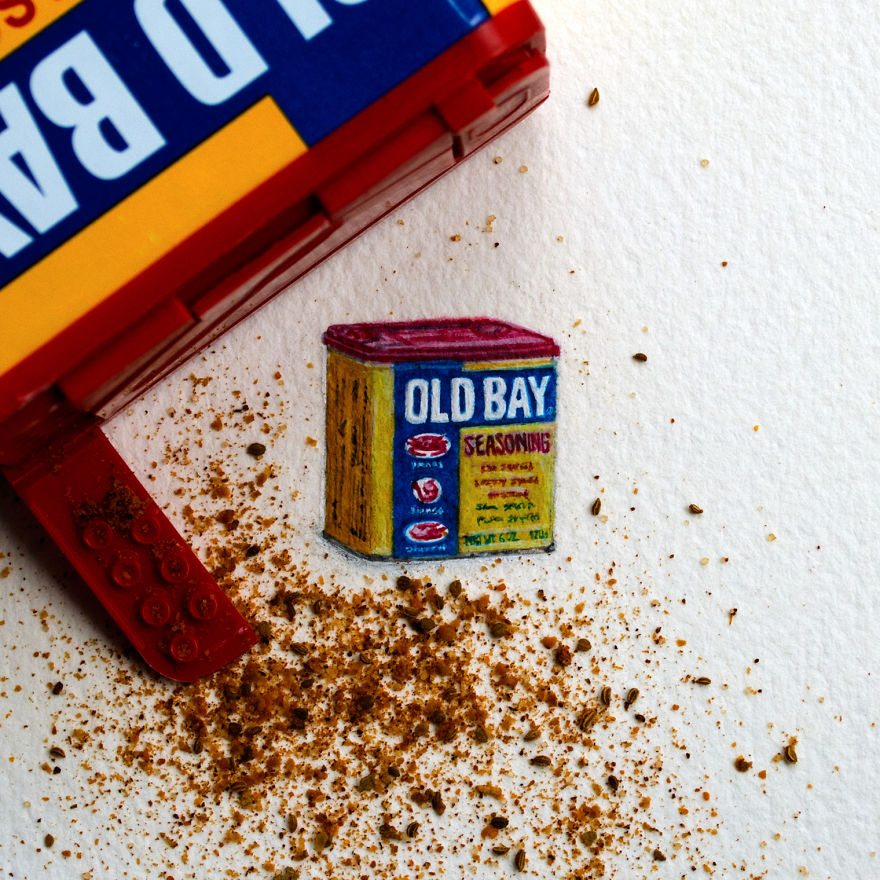 "Old Bay. The Letter O For The ""mini-market"" Series. ""mini-market"" Consists Of A Brand For Each Letter Of The Alphabet"