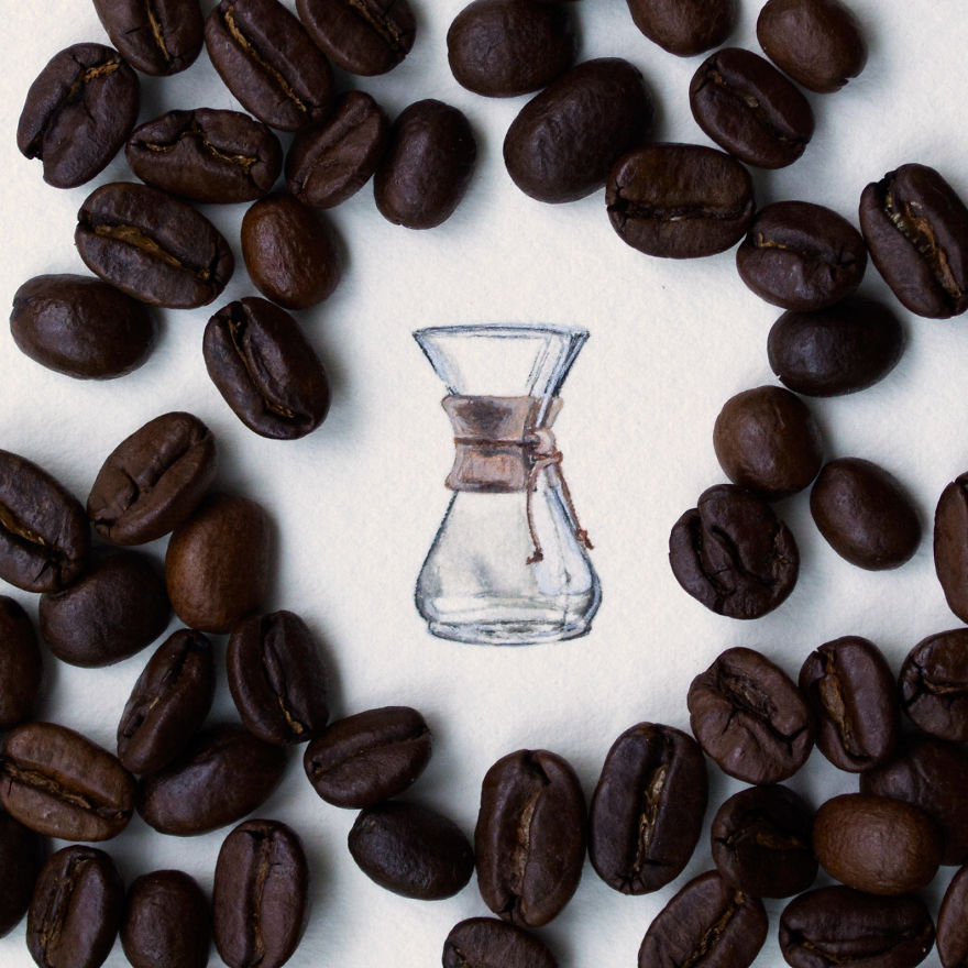 Chemex. This Little Chemex Cup Is Part Of A Mini Series For A Coffee And Dessert Bar In Zionsville, Indiana