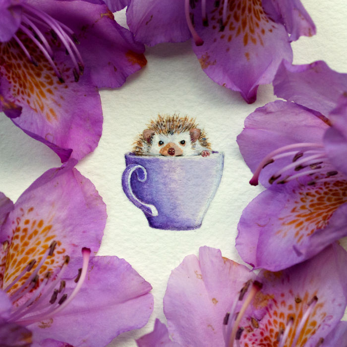 I Paint Miniature Watercolors To Show That Beauty Is In The Little Things