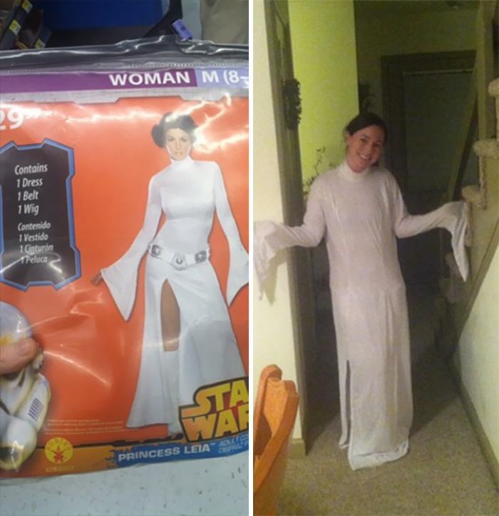 This Princess Leia Costume Looks More Like A Ghost Costume