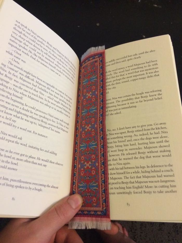 I Actually Ordered A Tiny Rug. Now It's A Beautiful Bookmark!