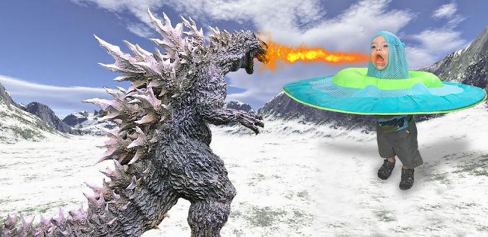 Godzilla Vs Magical Child