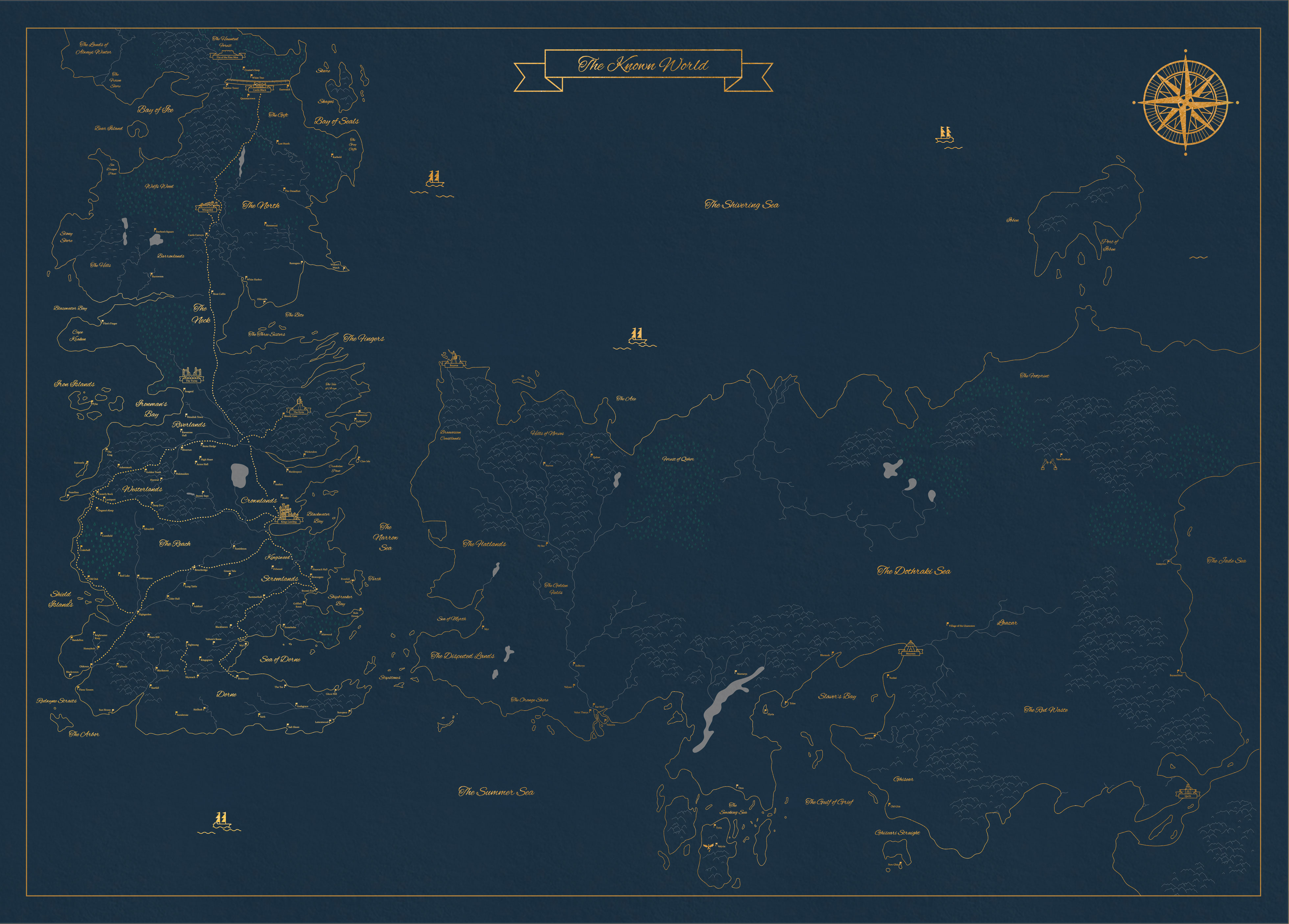 Ive created an extremely detailed map of the known game of thrones more gumiabroncs Gallery