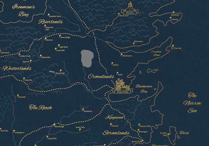 I've Created An Extremely Detailed Map Of The Known Game Of Thrones Lands