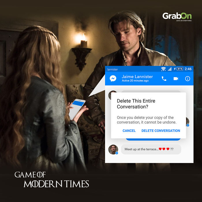 9 Posters Of Game Of Thrones Characters Using Modern Day Apps