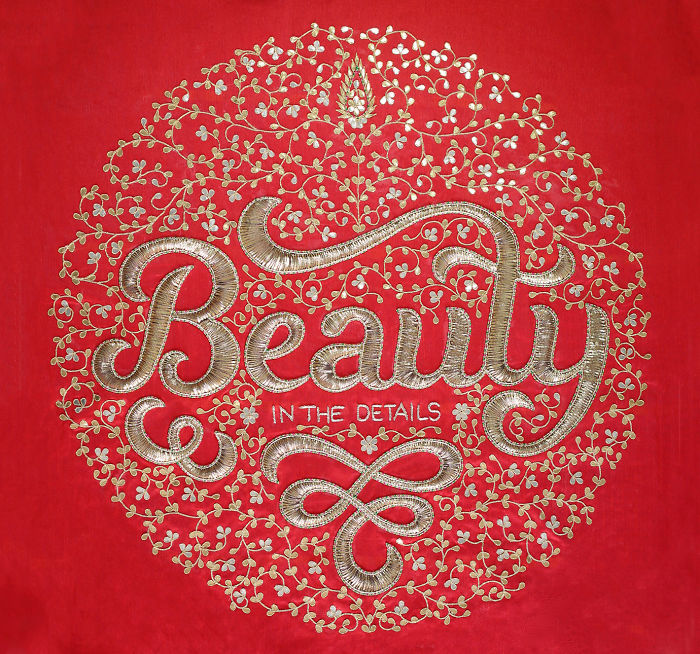 Typography Meets Indian Crafts