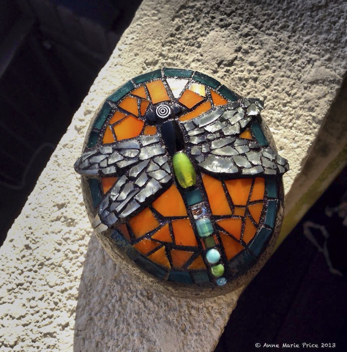 As A Way To Relax, I Make These Colorful Mosaics On Stones