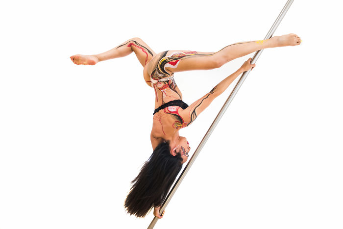 I Photographed A Pole Dancer Decorated With Body Paint. The Results May Surprise You