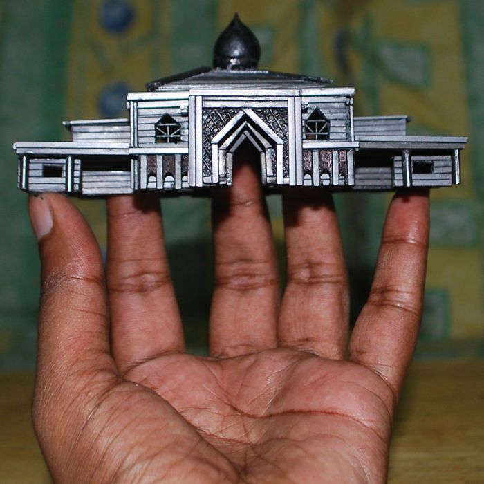 It Took Me 212 Hours To Create A Floating Mosque Out Of Graphite