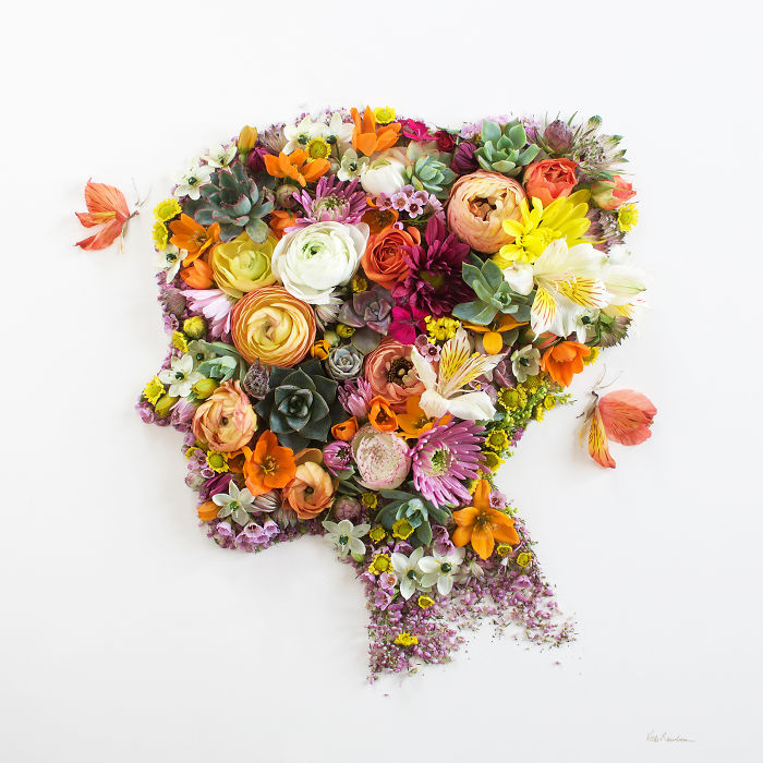 I Balance Twigs And Flowers To Create Intricate Portraits Out Of Mother Nature