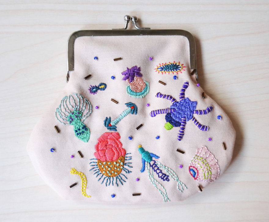Life In A Drop Of The Seawater Coin Purse