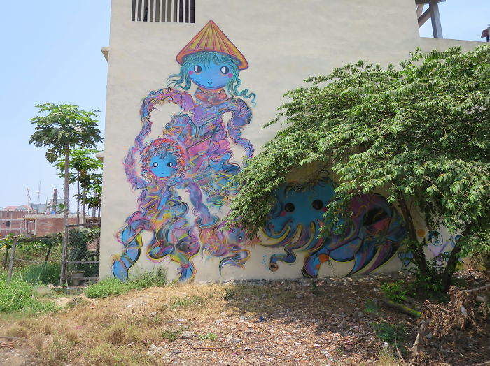 Where Is My Elephant: I Painted My Highest Mural In Danang, Vietnam