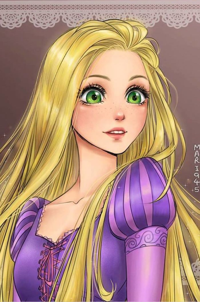 If Disney Princesses Were Anime Characters!