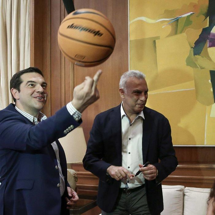 Photoshop This Prime Minister Of Greece Spinning The Ball