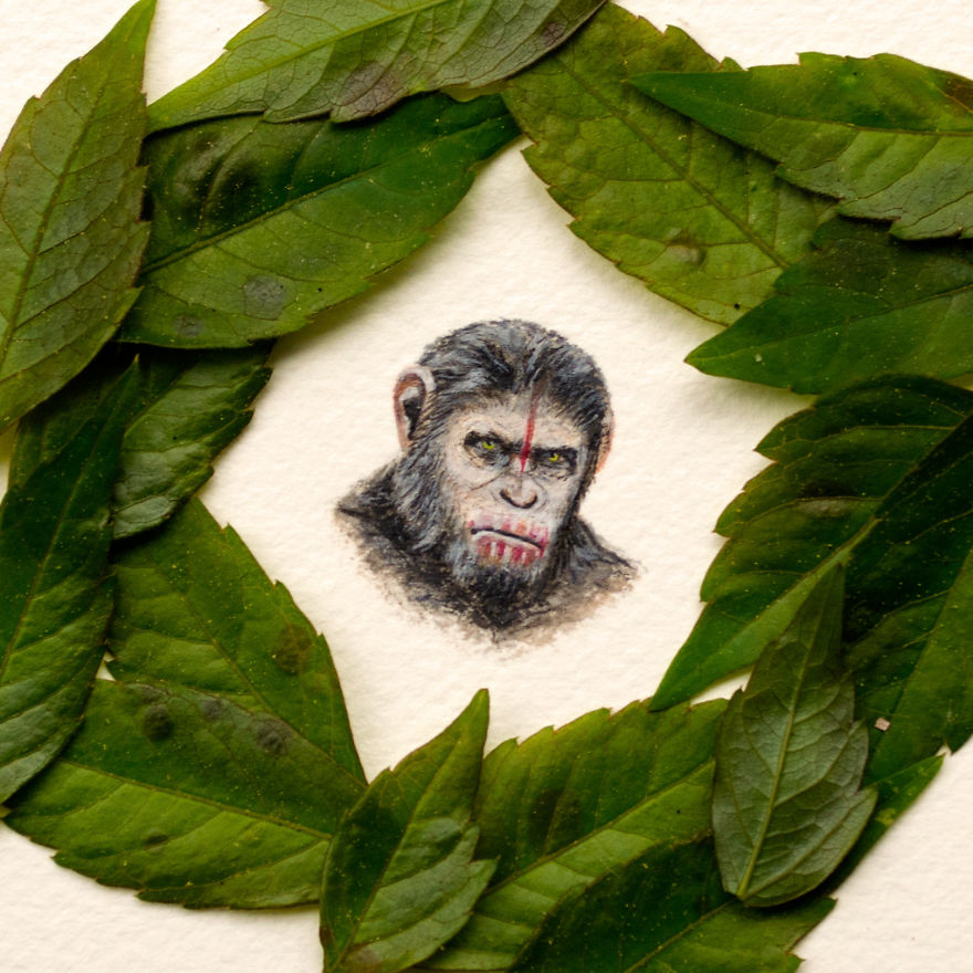 Caesar. A Gift For A Lady, Her Favorite Character From Planet Of The Apes