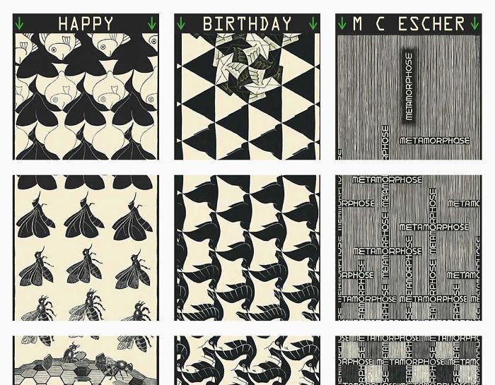 Epic 36 Tile Image On Instagram For M C Escher's Birthday!