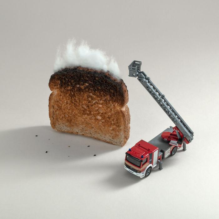 Toast On Fire