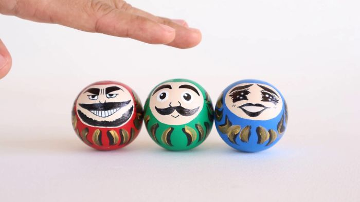 Daruma Doll Is Not A Serious Face Anymore. I Created Kawaii Face For Them.