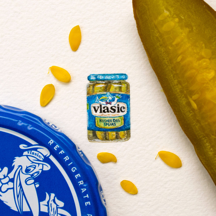 "Vlasic. The Letter V For The ""mini-market"" Series. ""mini-market"" Consists Of A Brand For Each Letter Of The Alphabet"