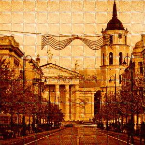 We Made A Giant Toasted Bread Picture Of Our Hometown Vilnius