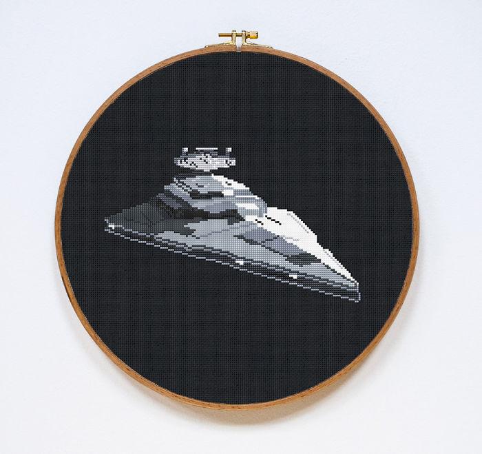 We Make Cross Stitches Of Star Wars Battleships