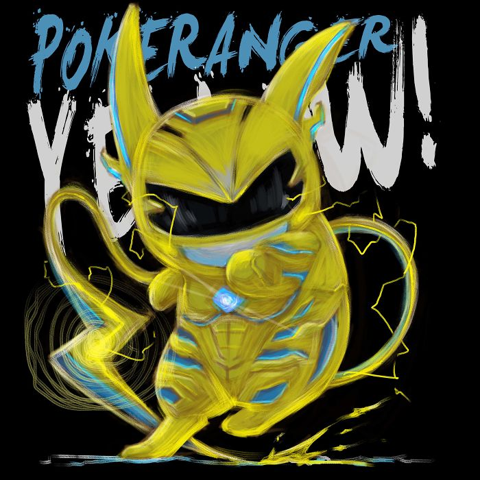 Artist Turns Cute Pokemons Into Badass Power Rangers