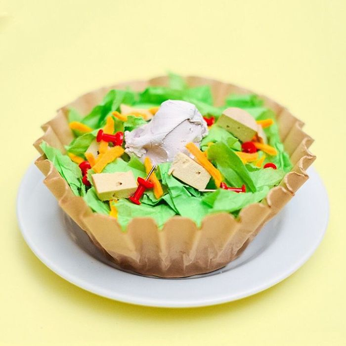 Chicken Taco Salad From Coffee Filters